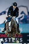 Piergiorgio Bucci of Italy riding Casallo Z competes at the Hong Kong Jockey Club trophy during the Longines Hong Kong Masters 2015 at the AsiaWorld Expo on 13 February 2015 in Hong Kong, China. Photo by Xaume OIleros / Power Sport Images