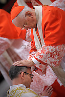 cardinal Francesco Monterisi; Pope Benedict XVI The pontiff appointed two new bishops during the mass. the Solemnity of Epiphany at St Peter's basilica at the Vaticanon January 6, 2012 .