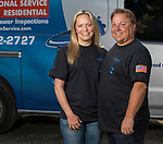 Absolute Drain owners Laura and Mickey Castonguay in Reno, Nevada on Thursday, August 10, 2017.