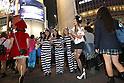 People in costume walk through Shibuya scramble crossing on halloween in Tokyo, Japan October 31, 2014.  (Photo by Yuriko Nakao /AFLO)