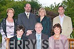RETIREMENT PARTY: Tony Behan, Castleisland enjoying his retirement party with family and friends after 42 years as a teacher, of which the past 7 years he taught at Mercy Mounthawk Secondary School at the Ballygarry House Hotel and Spa on Thursday night seated l-r: Ronan, Tony and Mary Francis Behan. Back l-r: Kathleen Rice (Deputy Principal retired), John O'Roarke (Principal), Maire O'Connor, (Deputy Principal) and Micheal Carmody (President Board of Management)..   Copyright Kerry's Eye 2008