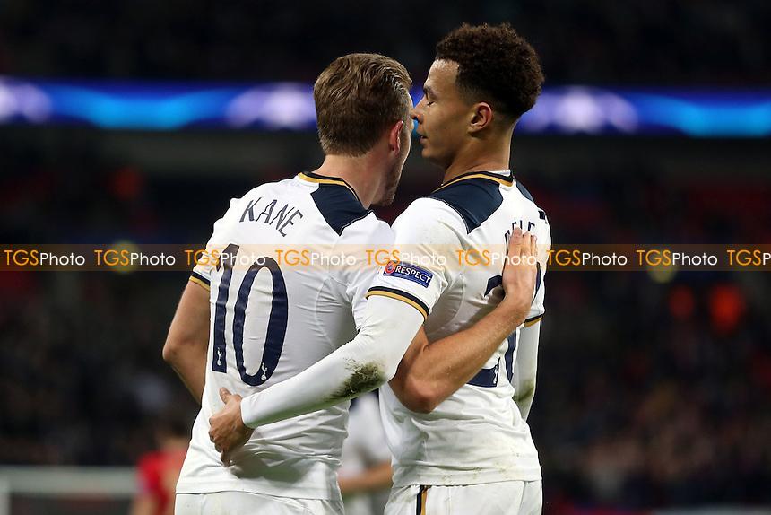 Dele Alli of Tottenham Hotspur celebrates scoring the third goal during Tottenham Hotspur vs CSKA Moscow, UEFA Champions League Football at Wembley Stadium on 7th December 2016
