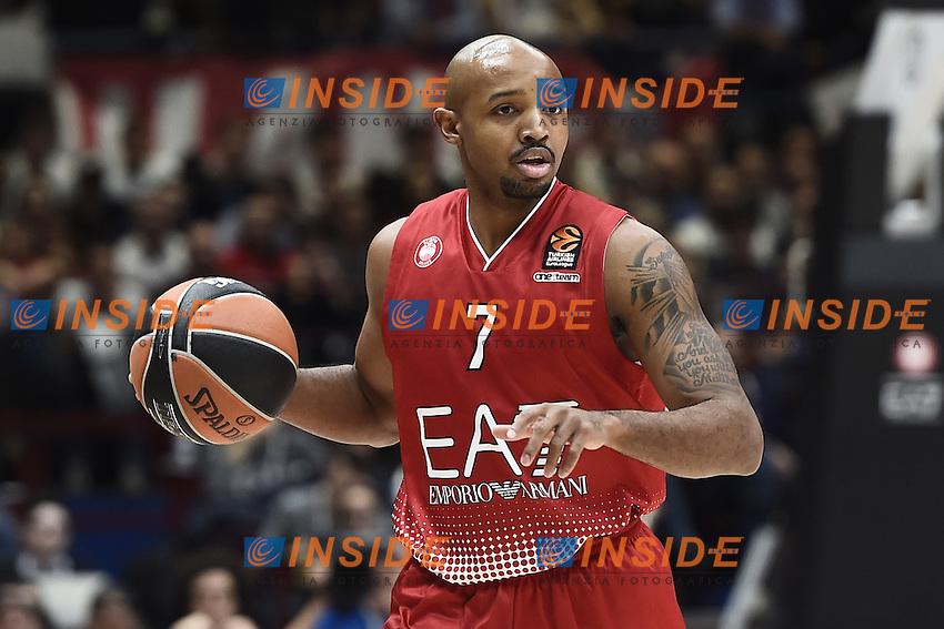 Milano 27/10/2016 - basket Eurolega / EA7 Milano - Real Madrid / foto Daniele Buffa/Image Sport/Insidefoto<br /> nella foto: Ricky Hickman