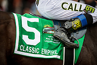 BALTIMORE, MD - MAY 20:  The Saddle Cloth for Classic Empire at the Preakness Stakes at Pimlico Race Course on May 20, 2017 in Baltimore, Maryland. (Photo by Alex Evers/Eclipse Sportswire/Getty Images)