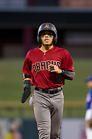 AZL Diamondbacks Jancarlos Cintron (6) jogs back to first base during the game against the AZL Cubs on August 11, 2017 at Sloan Park in Mesa, Arizona. AZL Cubs defeated the AZL Diamondbacks 7-3. (Zachary Lucy/Four Seam Images)