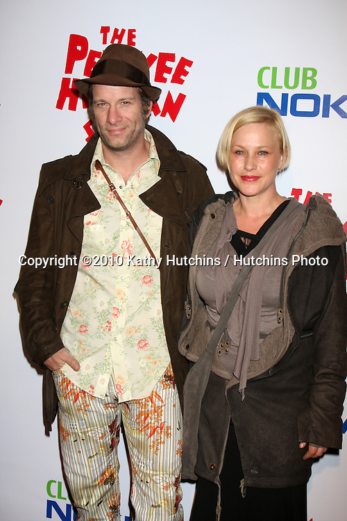 "Thomas Jane & Patricia Arquette.arriving at the ""The Pee Wee Herman Show"" Opening Night..Club Nokia.Los Angeles, CA.January 20, 2010.©2010 Kathy Hutchins / Hutchins Photo...."