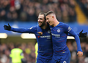 2nd February 2019, Stamford Bridge, London, England; EPL Premier League football, Chelsea versus Huddersfield Town; Gonzalo Higuain of Chelsea celebrates with Ross Barkley of Chelsea after scoring his sides 4th goal in the 70th minute to make it 4-0