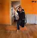 Australian Mick Fanning Streching before his heat in Bachio, Spain.