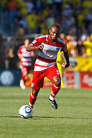 28 AUGUST 2010:  FC Dallas' Jeff Cunningham (9) during MLS soccer game between FC Dallas vs Columbus Crew at Crew Stadium in Columbus, Ohio on August 28, 2010.