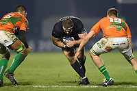 Henry Thomas of Bath Rugby takes on the Benetton Rugby defence. European Rugby Champions Cup match, between Benetton Rugby and Bath Rugby on January 20, 2018 at the Municipal Stadium of Monigo in Treviso, Italy. Photo by: Patrick Khachfe / Onside Images