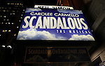 Theatre Marquee for the the Broadway Opening Night Performance After Party for 'Scandalous The Musical' at the Neil Simon Theatre in New York City on 11/15/2012