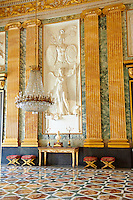 """""""The Room of Mars"""" also known as """"The waiting room for titled persons and the Barons of the Kingdom, High Ranking Officers and foreign Intendants"""". The neoclassical decoration are designed to be an  exaltation of war.  The Bourbon Kings of Naples Royal Palace of Caserta, Italy."""
