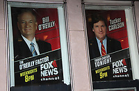 NEW YORK, NY - APRIL19 :  Posters promoting 'The O'Reilly Factor' show remain displayed at the FOX News headquarters the evening that FOX Network announced that  conservative talk show host Bill O'Reilly will not be returning to the FOX News.  Widely reported, FOX News paid upwards of $13 million dollars out to various women who accused O'Reilly sexual harassment in the workplace and his is ouster is due to continued claims against the host in New York on April 19, 2017. <br /> CAP/MPI/RMP<br /> &copy;RMP/MPI/Capital Pictures