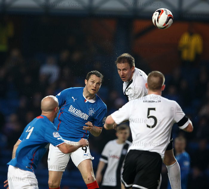 Jon Daly almost gets a header on target