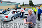 Member of the Castleisland Race Committee launch their Drive Through Bingo in Castleisland on Tuesday. <br /> Front right: Charlie Farrelly.<br /> In the car: Clare Reidy and Pat Hartnett with Bill Reidy.<br /> Back l to r: Denny Greaney, Martina O'Mahoney, Stacy Reidy, Mags Sullivan, John Ryan, James Maher, Ted Kenny, Gerry Fegan and Tom Sullivan.