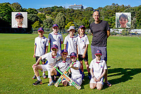 Heat. Eastern Suburbs Cricket Club Junior Team Photos, Wellington, New Zealand. March 2020. Back row, from left: Remy Boswell, Thomas Mckenzie, Henry Tripe, Barnaby Lucas, Johnny Tripe (coach); front, Blake McLeod, Sam Roberts, Kingsley McGuigan, George Renwick. Inset: Emilia Rafter (left), Noah Roberts.