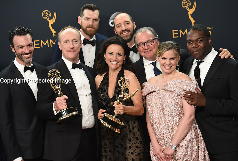 Julia Louis Dreyfus + VEEP cast @ the 2016 Emmy Awards held @ the Microsoft theatre. September 18, 2016