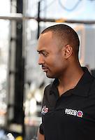Jan. 16, 2013; Jupiter, FL, USA: NHRA top fuel dragster driver Antron Brown during testing at the PRO Winter Warmup at Palm Beach International Raceway.  Mandatory Credit: Mark J. Rebilas-