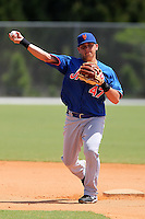 New York Mets infielder Juan Carlos Gamboa #47 during a minor league spring training game against the Miami Marlins at the Roger Dean Sports Complex on March 28, 2012 in Jupiter, Florida.  (Mike Janes/Four Seam Images)