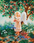 Dona Gelsinger, CHILDREN, paintings(USGE9714,#K#) Kinder, niños, illustrations, pinturas angels, ,everyday