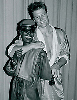 Grace Jones Dolph Lundgren 1985<br /> Photo By John Barrett-PHOTOlink.net / MediaPunch