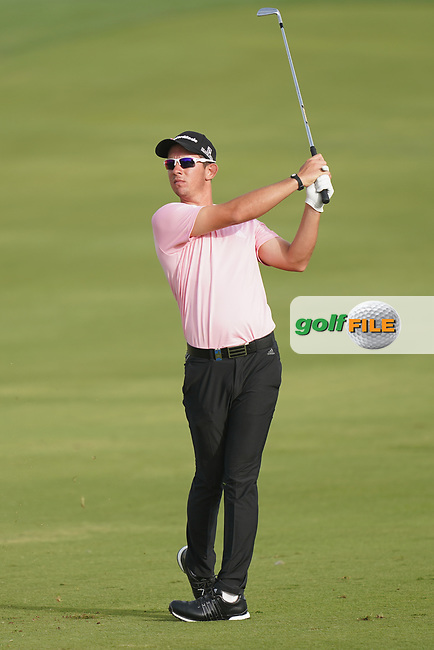 Lucas Herbert (AUS) in action during the second round of the Omega Dubai Desert Classic, Emirates Golf Club, Dubai, UAE. 25/01/2019<br /> Picture: Golffile | Phil Inglis<br /> <br /> <br /> All photo usage must carry mandatory copyright credit (&copy; Golffile | Phil Inglis)