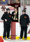 Tim Low, Russ DeRosa, Justin Greene (BC - 26), Chris Federico - The Boston College Eagles defeated the visiting Northeastern University Huskies 7-1 on Friday, March 9, 2007, to win their Hockey East quarterfinals matchup in two games at Conte Forum in Chestnut Hill, Massachusetts.
