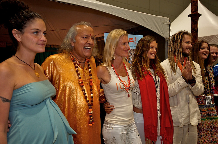 Global Mala Project (GMP) event. Hala, Laughing Yogi, Shiva, Radha, Govindas and friends.