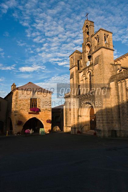 Europe/France/Aquitaine/24/Dordogne/Villefranche-du-Périgord: L'église Notre-Dame-de-l'Assomption construite en 1864 par Paul Abadie, l