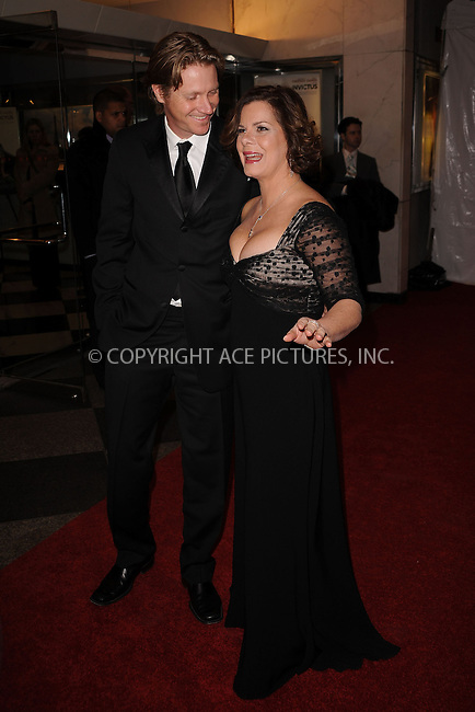 WWW.ACEPIXS.COM . . . . . ....December 1 2009, New York City....Thaddaeus Scheel and Actress Marcia Gay Harden arriving at the Museum of The Moving Image salutes Clint Eastwood at 583 Park on December 1, 2009 in New York City. ....Please byline: KRISTIN CALLAHAN - ACEPIXS.COM.. . . . . . ..Ace Pictures, Inc:  ..(212) 243-8787 or (646) 679 0430..e-mail: picturedesk@acepixs.com..web: http://www.acepixs.com
