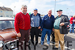 Gerald O'Sullivan (Finuge), Patrick Langan (Athea), Jack Quaid (Athea) and John Mulvihill (Glin) at the Ballybunion Vintage rally on Sunday.