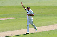 Tim Bresnan of Yorkshire celebrates taking the wicket of James Foster during Essex CCC vs Yorkshire CCC, Specsavers County Championship Division 1 Cricket at The Cloudfm County Ground on 4th May 2018