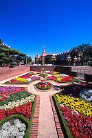 Knot Garden in Centennial Square at Victoria City Hall, BC, British Columbia, Canada