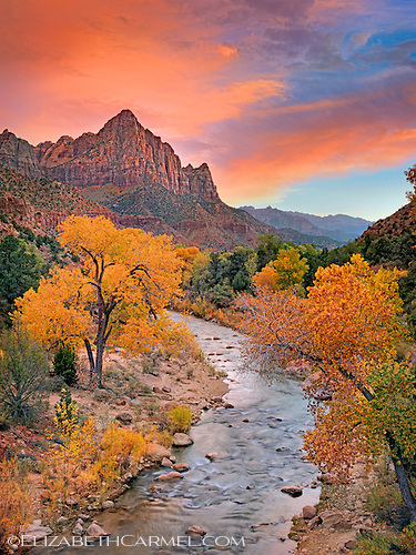 Autumn Sunset, Zion