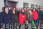 Parents queing for Two days for places for their children in Presentation Secondary school, Tralee. The que started on Thursday Morning with regreestration taking place on Saturday Morning.