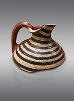 Phrygian terracotta jug fragment decorated with concentric line pattern . 8th-7th century BC . Çorum Archaeological Museum, Corum, Turkey