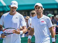 London, England, 5 th July, 2017, Tennis,  Wimbledon, Men's Doubles: Jean-Julien Rojer (NED) (R) / Horia Tecau (ROU)<br /> Photo: Henk Koster/tennisimages.com