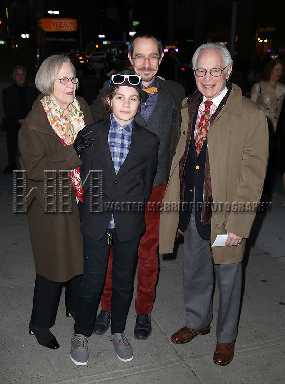 Robert Waldman and family attends 'The Robber Bridegroom' Off-Broadway Opening Night performance at Laura Pels Theatre on March 13, 2016 in New York City.