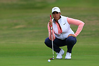 Cheyenne Woods (USA) on the 1st green during Round 2 of the Ricoh Women's British Open at Royal Lytham &amp; St. Annes on Friday 3rd August 2018.<br /> Picture:  Thos Caffrey / Golffile<br /> <br /> All photo usage must carry mandatory copyright credit (&copy; Golffile | Thos Caffrey)