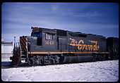 Leftside view of D&amp;RGW GP40 #3143 (ex Conrail #3155).  &quot;Alamosa Depot&quot;.<br /> D&amp;RGW  Alamosa, CO  Taken by Berkstresser, George