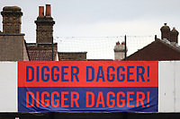Digger Dagger signage during Dagenham & Redbridge vs Maidenhead United, Vanarama National League Football at the Chigwell Construction Stadium on 7th December 2019