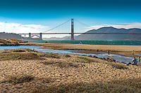 Architecture, building, business district, mist, downtown  san francisco city fog, skyline cityscape, tower, united states of america, usa Presidio Crissy Field Marsh