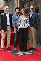 LOS ANGELES - MAY 30:  Joel Fields, JJ Abrams, Keri Russell, Matt Reeves at the Keri Russell Honored With a Star Ceremony on the Hollywood Walk of Fame on May 30, 2017 in Los Angeles, CA