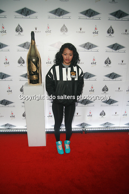 Teyana Taylor Attends the Grand Re-Opening of Jay-Z's 40/40 Club, NY    1/18/12