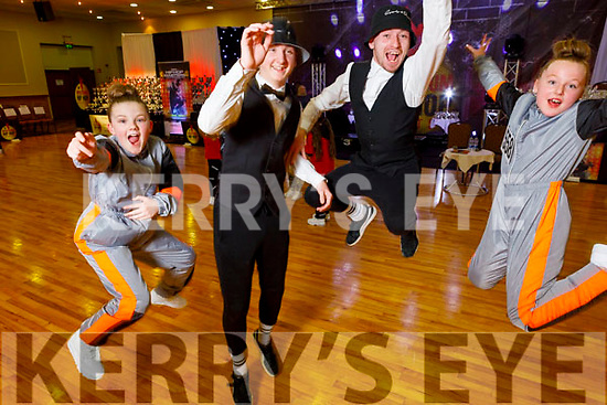 Megan O'Byrne, Stuart Burke, Shane Lawless and Ava Troy ready to dance the evening away at the Irish Hip Hop Masters Dance Championships 2020 in the Brandon Hotel on Friday.