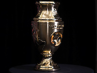 New York, NY - Friday June 24, 2016: Copa America Centenario trophy during a press conference prior to the final of the Copa America Centenario at The Westin New York at Times Square.<br /> <br /> Photo during American Cup USA 2016 Press Conference.<br /> <br /> Foto durante la Conferencia de Prensa de la Copa America Centenario USA 2016, enla foto: Trofeo<br /> <br /> ---24/06/2016/MEXSPORT/ David Leah.