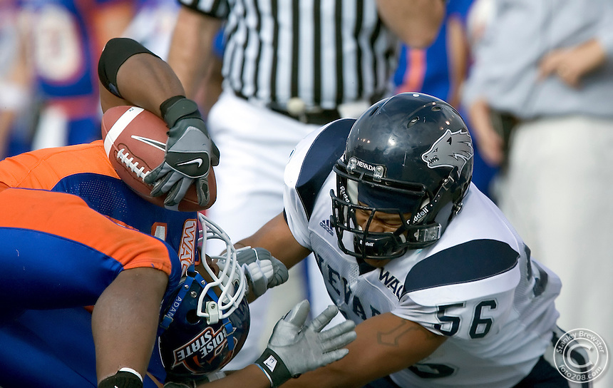 10-27-05-Boise ID. Boise State vs.Nevada  in football at Bronco Stadium. Boise State won 49-14.