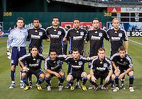 18 April 2009: San Jose Earthquakes' Starting XI pose for group photo before the game against Los Angeles Galaxy at Oakland-Alameda County Coliseum in Oakland, California.   Earthquakes and Galaxy are tied 1-1.
