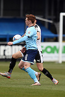 Jon Nolan of Grimsby Town during the Vanarama National League match between Dover Athletic and Grimsby Town at the Crabble Athletic Ground, Dover, England on 16 April 2016. Photo by Tony Fowles/PRiME Media Images.