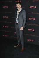 "LOS ANGELES - FEB 1:  Joel Kinnaman at the ""Altered Carbon"" Season 1 Premiere Screening at the Mack Sennett Studios on February 1, 2018 in Los Angeles, CA"